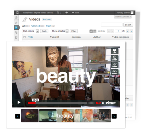 Vimeo video post - WordPress plugin