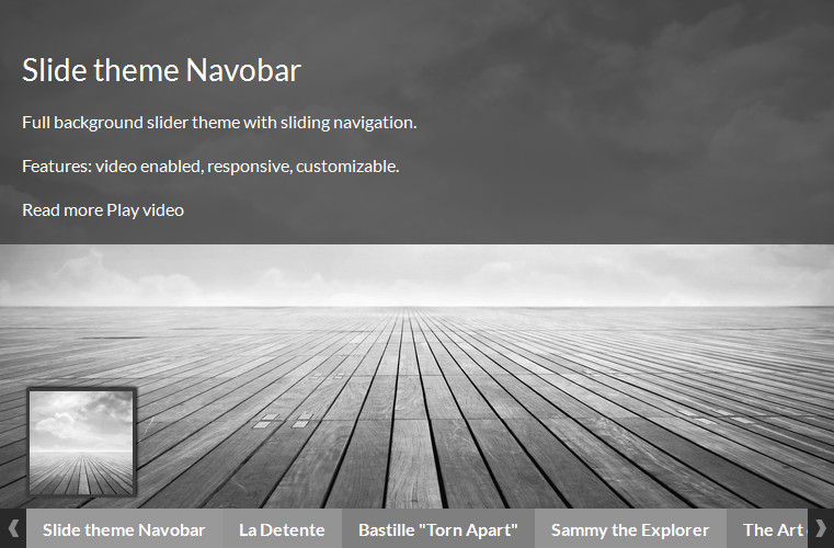 WordPress Slider Plugin - theme Navobar